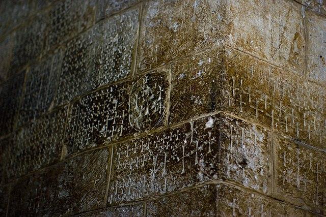Graffiti gemaakt door de Kruisvaarders