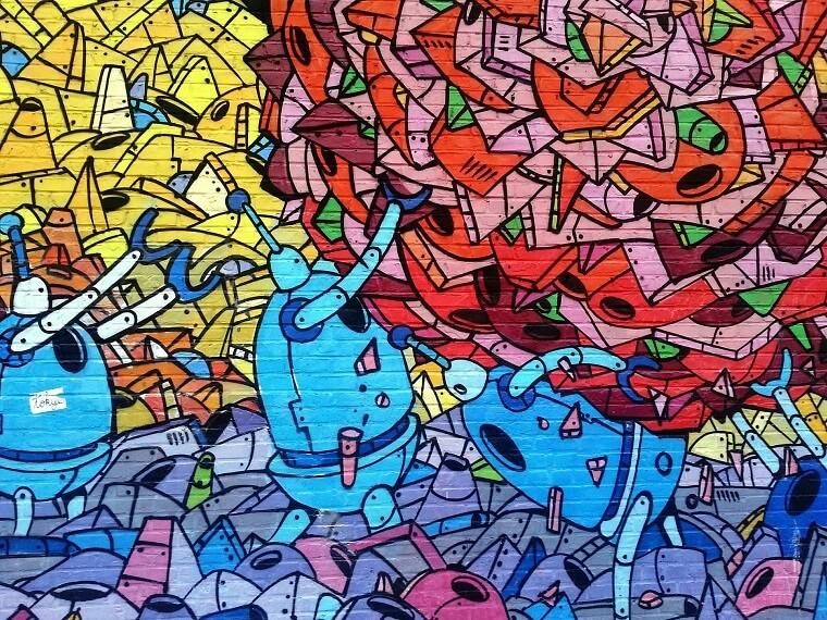 Een piece graffiti