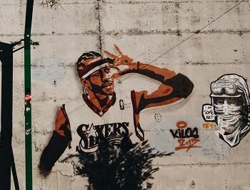 Voorbeeld graffiti basketbal