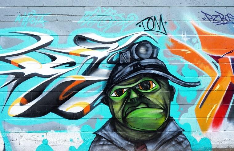 Voorbeeld graffiti kikker