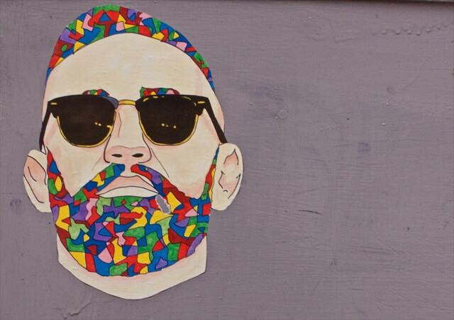 Graffiti voorbeeld man met zonnebril